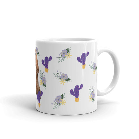 Mug - Purple Cactus and Flower