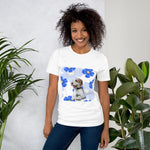 Short-Sleeve Unisex T-Shirt - Blue flowers