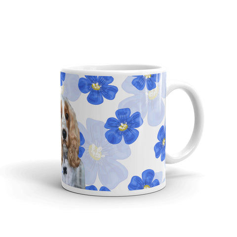 Mug - Blue watercolor flower