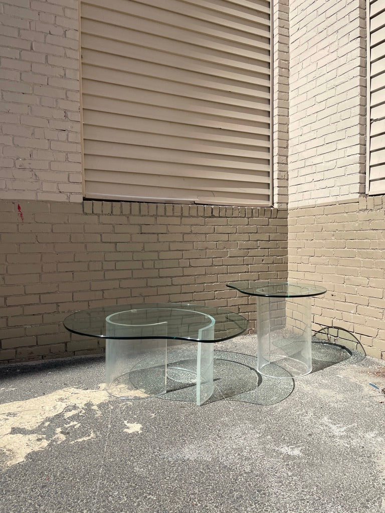 Lucite 'Snail' Side Table by Vladimir Kagan