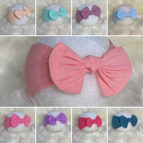 Bella Nylon Bow Headwrap