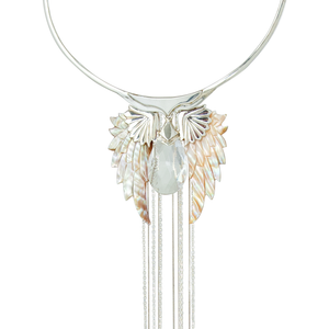 pegasus silver angel wing necklace