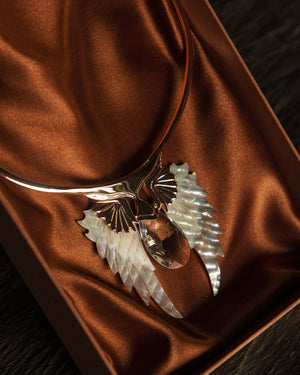 Rose Gold Angel Wing Necklace New Edition