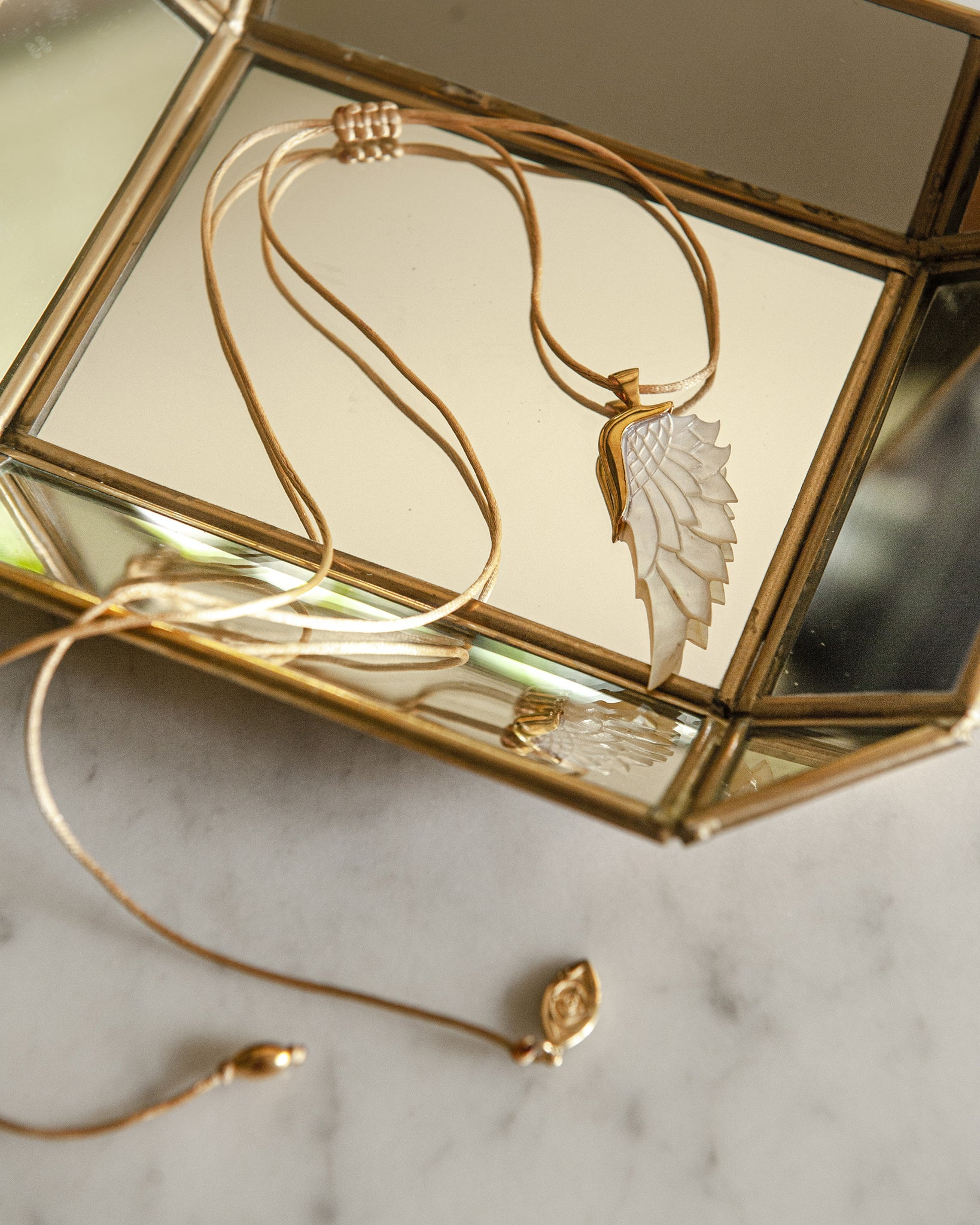 Purist Gold Angel Wing Pendant
