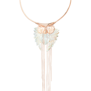 pegasus rose gold angel wing necklace