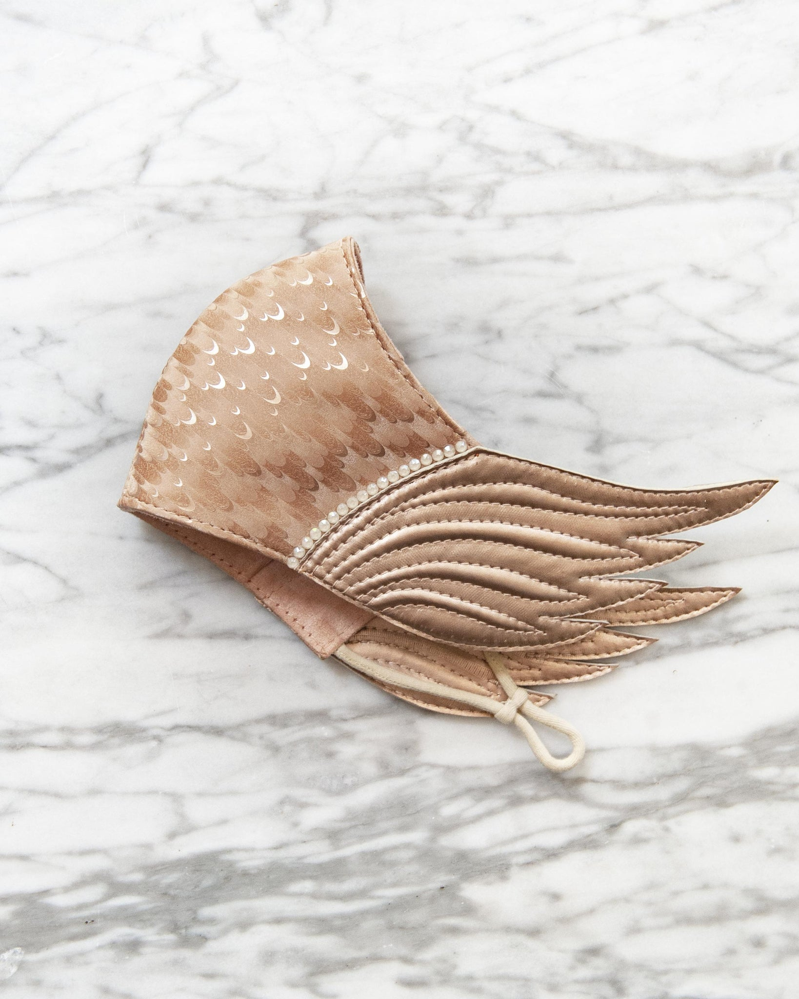 Rose Gold Pegasus Winged Face Mask
