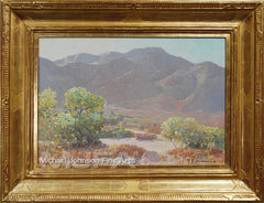 An early California oil painting by Jack Wilkinson Smith, titled California Landscape