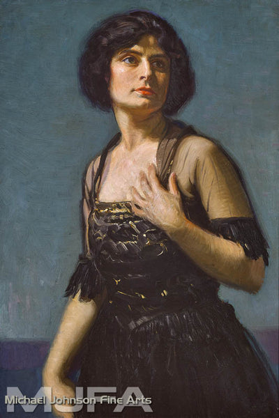 An early California oil painting by  Joseph Kleitsch, titled  Portrait of Hedda Nova, c. 1920