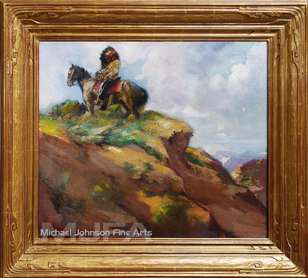An early California oil painting by Julius Rolshoven, titled New Mexico