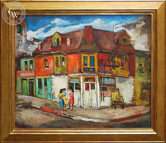 Oscar Van Young - Three Blocks from Skid Row, 1942, an original California oil painting for sale, original California art for sale - CaliforniaWatercolor.com