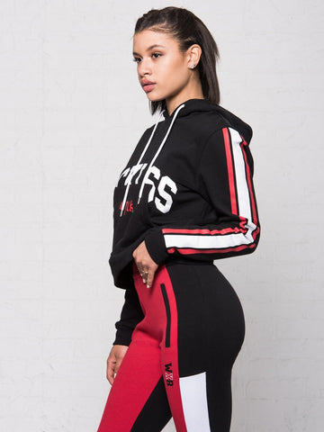 Reckless Girls WILK x RECKLESS Sammy Wilk x Reckless Hoodie - Black/Red