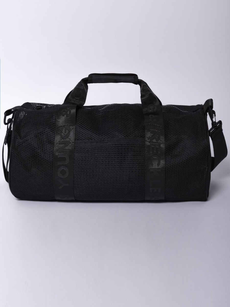Stacy Mesh Duffle Bag- Black