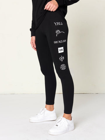 Reckless Girls Womens - Activewear - Leggings Head2Head Jr Leggings - Black
