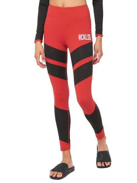 Heather Leggings- Red/Black