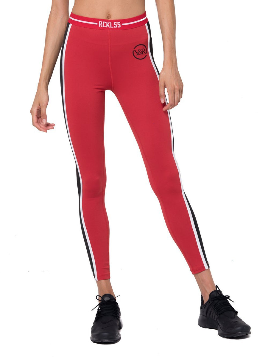 e5a9bf7b8b987 Reckless Girls Womens - Activewear - Leggings Maya Leggings- Red/Black