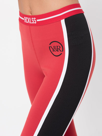 Reckless Girls Womens - Activewear - Leggings Maya Leggings- Red/Black