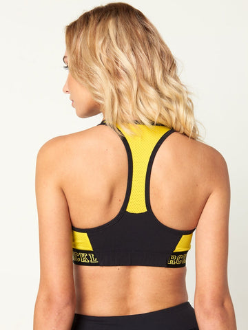Gianna Sports Bra - Yellow/Black