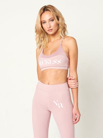 Reckless Girls Womens - Activewear - Tops Leanna Sports Bra- Rose