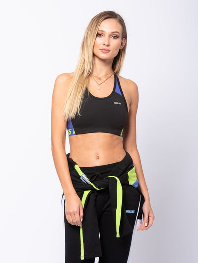 Reckless Girls Womens - Activewear - Tops Madison Sports Bra - Black/Blue