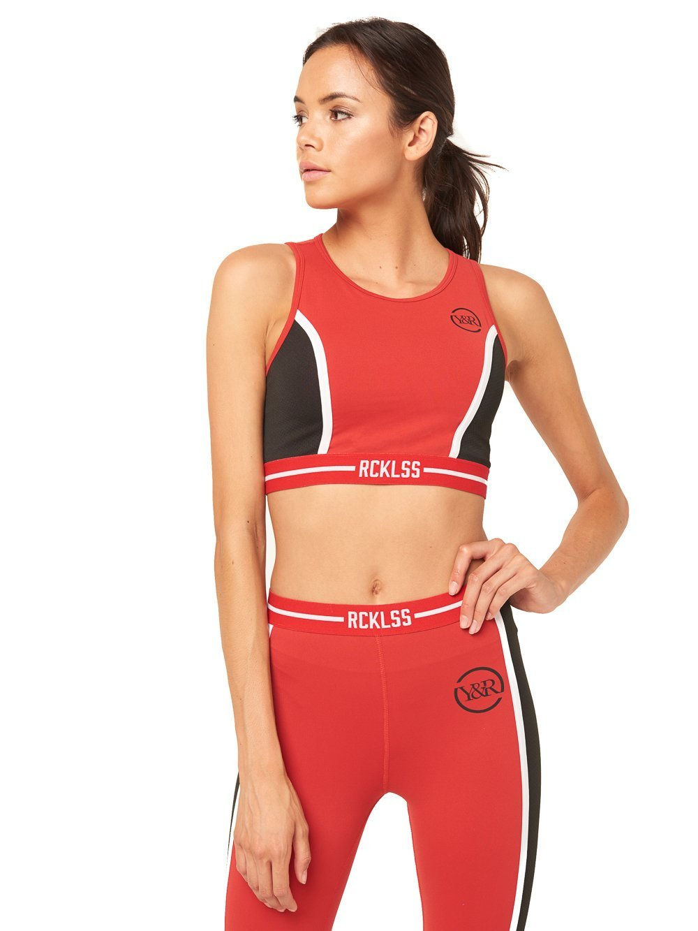 2a28fb94fb Reckless Girls Womens - Activewear - Tops Taylor Sports Bra- Red Black ...