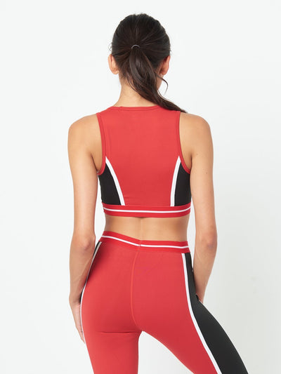 Reckless Girls Womens - Activewear - Tops Taylor Sports Bra- Red/Black