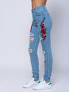 Reckless Girls Womens - Bottoms - Denim Miss Rosebud Denim - Indigo
