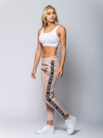 Reckless Girls Womens - Bottoms - Knit Bottoms Miss Pursuit Track Pants - Rose/Black
