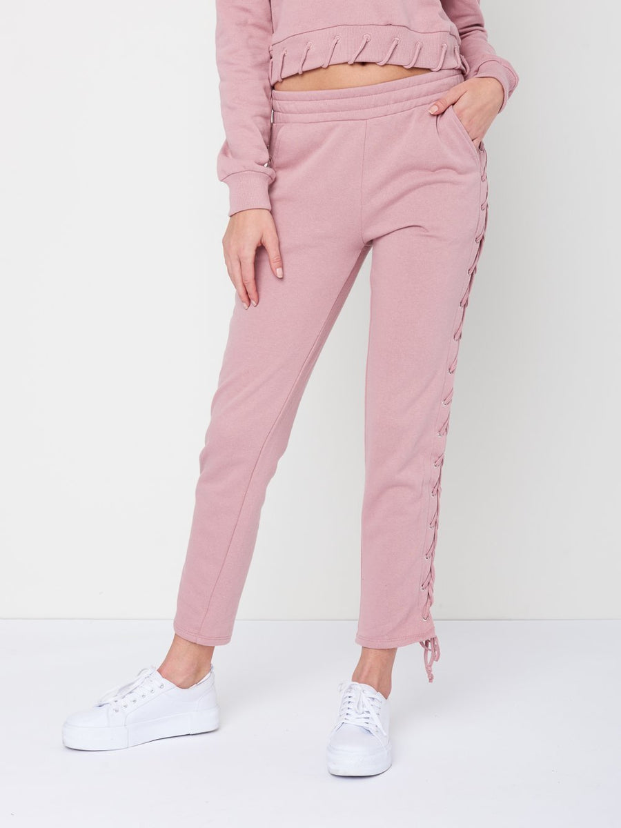 Reckless Girls Womens - Bottoms - Pants Claire Sweatpants- Rose