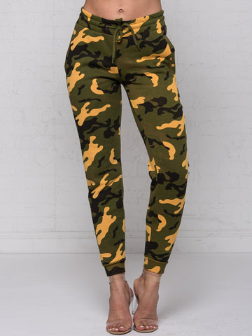 Reckless Girls Womens - Bottoms - Pants Deceit Jr Sweatpants - Camo Green