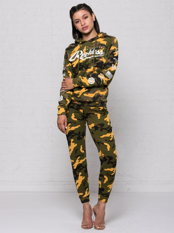Deceit Jr Sweatpants - Camo Green