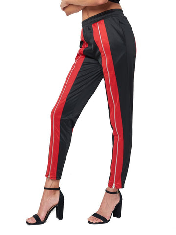 Reckless Girls Womens - Bottoms - Pants Gracie Sweatpants- Black/Red