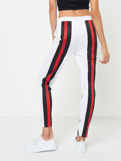 Reckless Girls Womens - Bottoms - Pants Jasmine Track Pants- White/Black