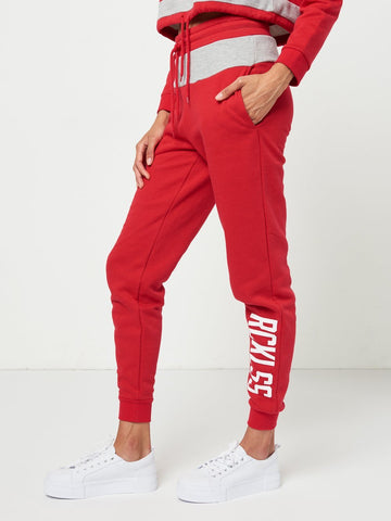 Reckless Girls Womens - Bottoms - Pants Kam Sweatpants- Red