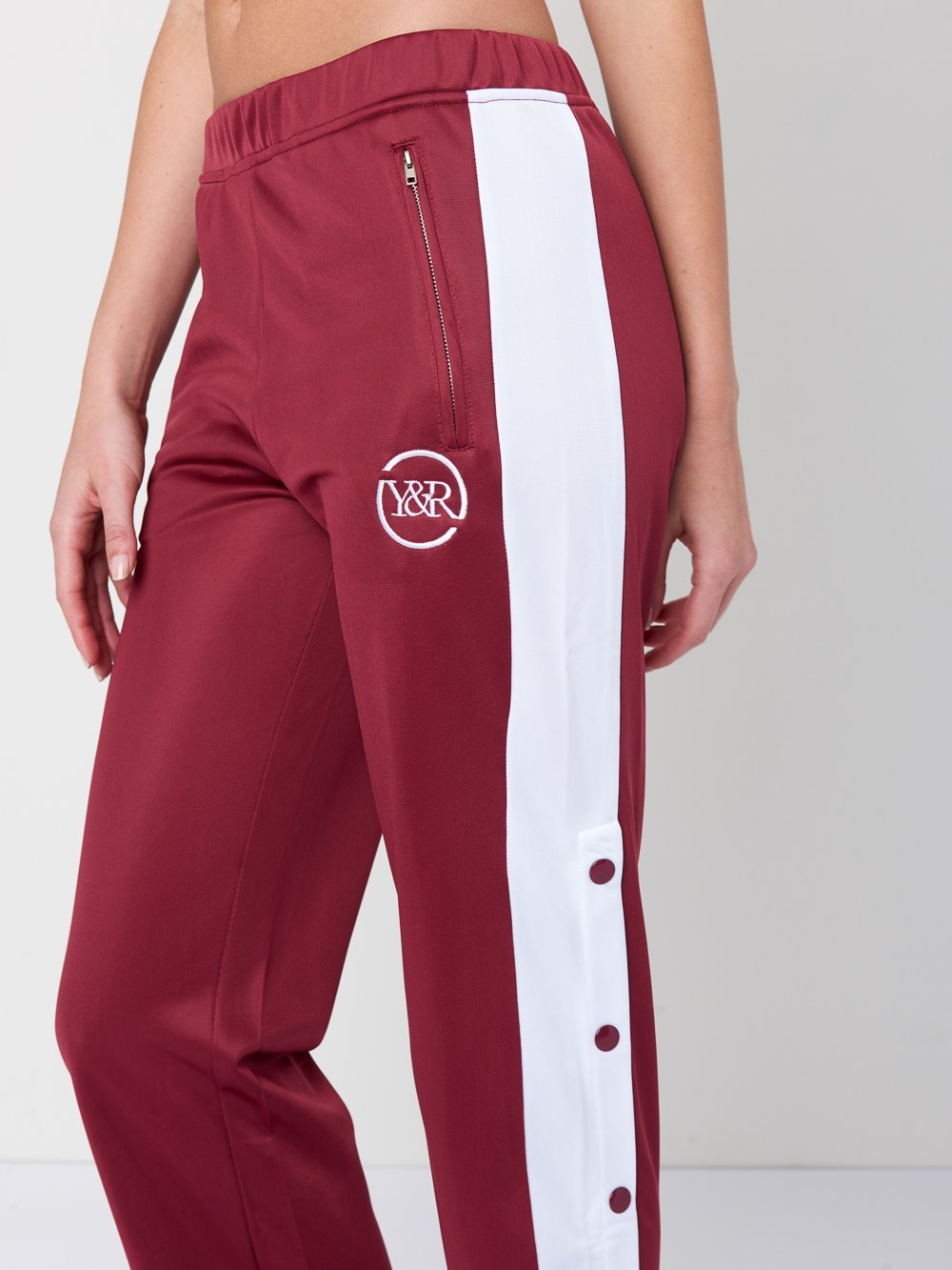 Reckless Girls Womens - Bottoms - Pants Kenya Mid-Way Tear Away Pants- Burgundy