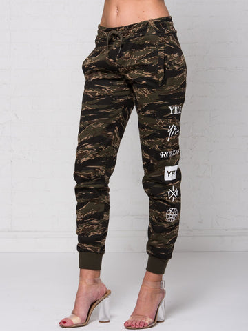 Reckless Girls Womens - Bottoms - Pants Micah Jr. Sweatpants - Tiger Camo