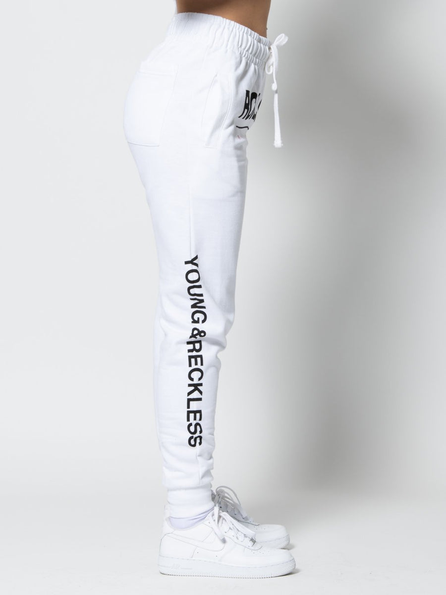 Reckless Girls Womens - Bottoms - Pants Miss Fast Track Sweatpants - White XS/S / WHITE