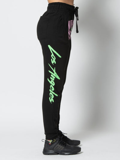 Reckless Girls Womens - Bottoms - Pants Miss LA Vintage Sweatpants - Black XS/S / BLACK
