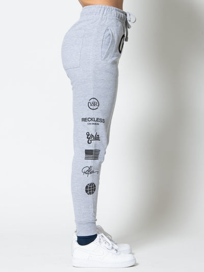 Reckless Girls Womens - Bottoms - Pants Miss Quest Sweatpants - Heather Grey XS/S / HEATHER GREY