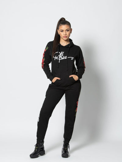 Reckless Girls Womens - Bottoms - Pants Miss Rosebud Sweatpants - Black XS/S / BLACK