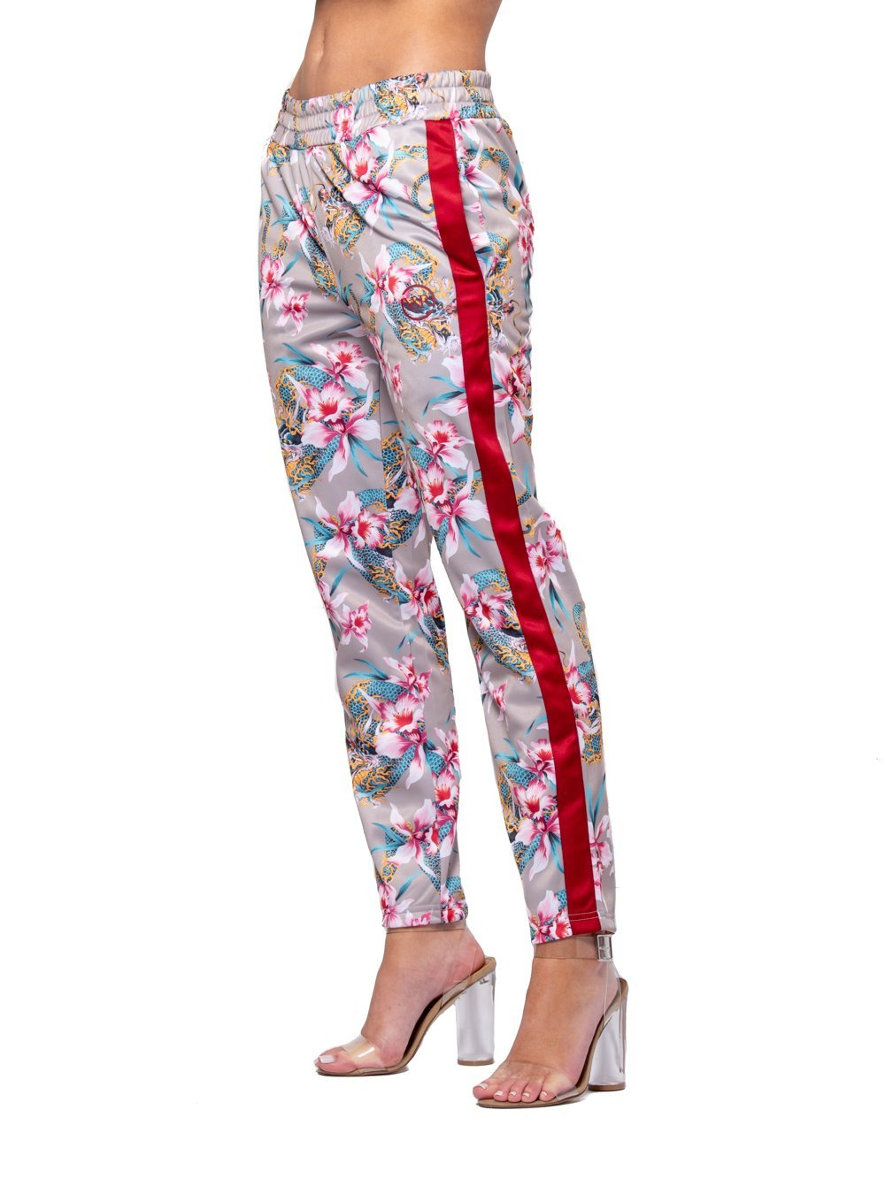 Reckless Girls Womens - Bottoms - Pants Monstruo Jr Track Pants - Red/Pink
