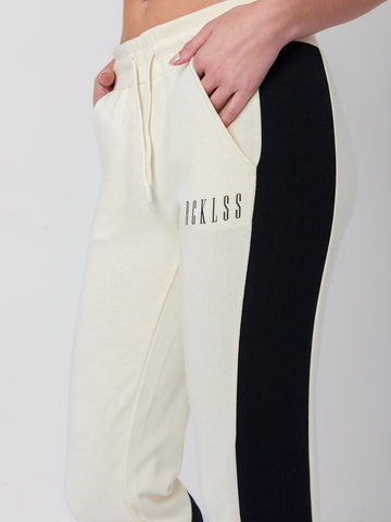 Nora Sweatpants- Beige/White