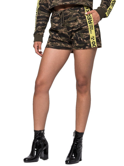 Reckless Girls Womens - Bottoms - Shorts Invincible Jr. Shorts - Tiger Camo