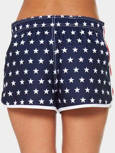 Reckless Girls Womens - Bottoms - Shorts Red White And Blue Shorts