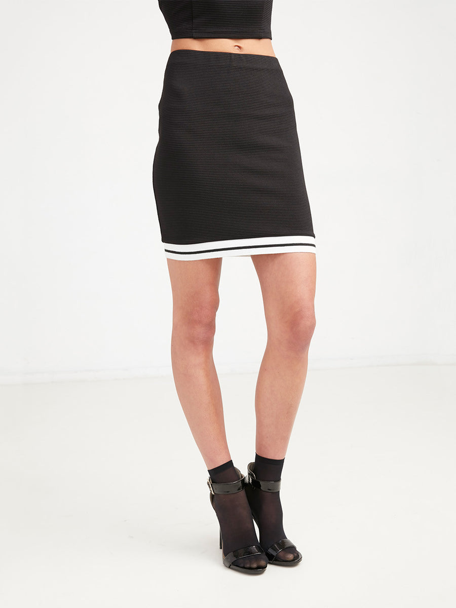 Kylie Bodycon Skirt - Black