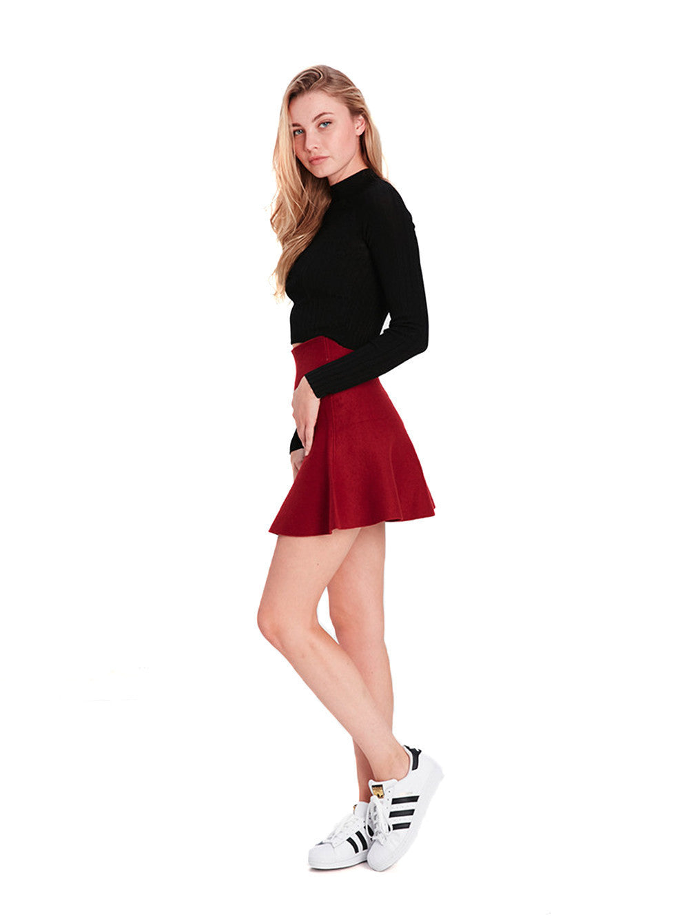 Meghan Mini Skirt Red Young Reckless