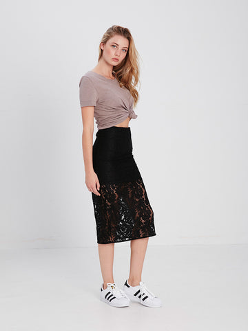 Scarlett Midi Skirt - Black
