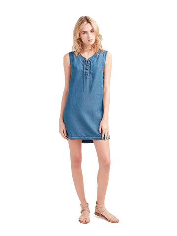 Reckless Girls Womens - Dresses / Rompers - Mini Nina Lace Up Denim Dress