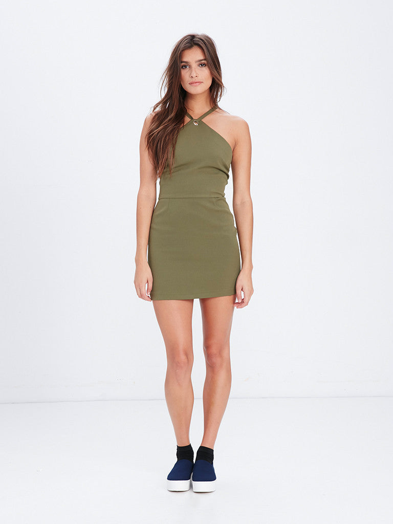 70559644470c6 Reckless Girls Womens - Dresses / Rompers - Mini Shay Mini Dress - Olive