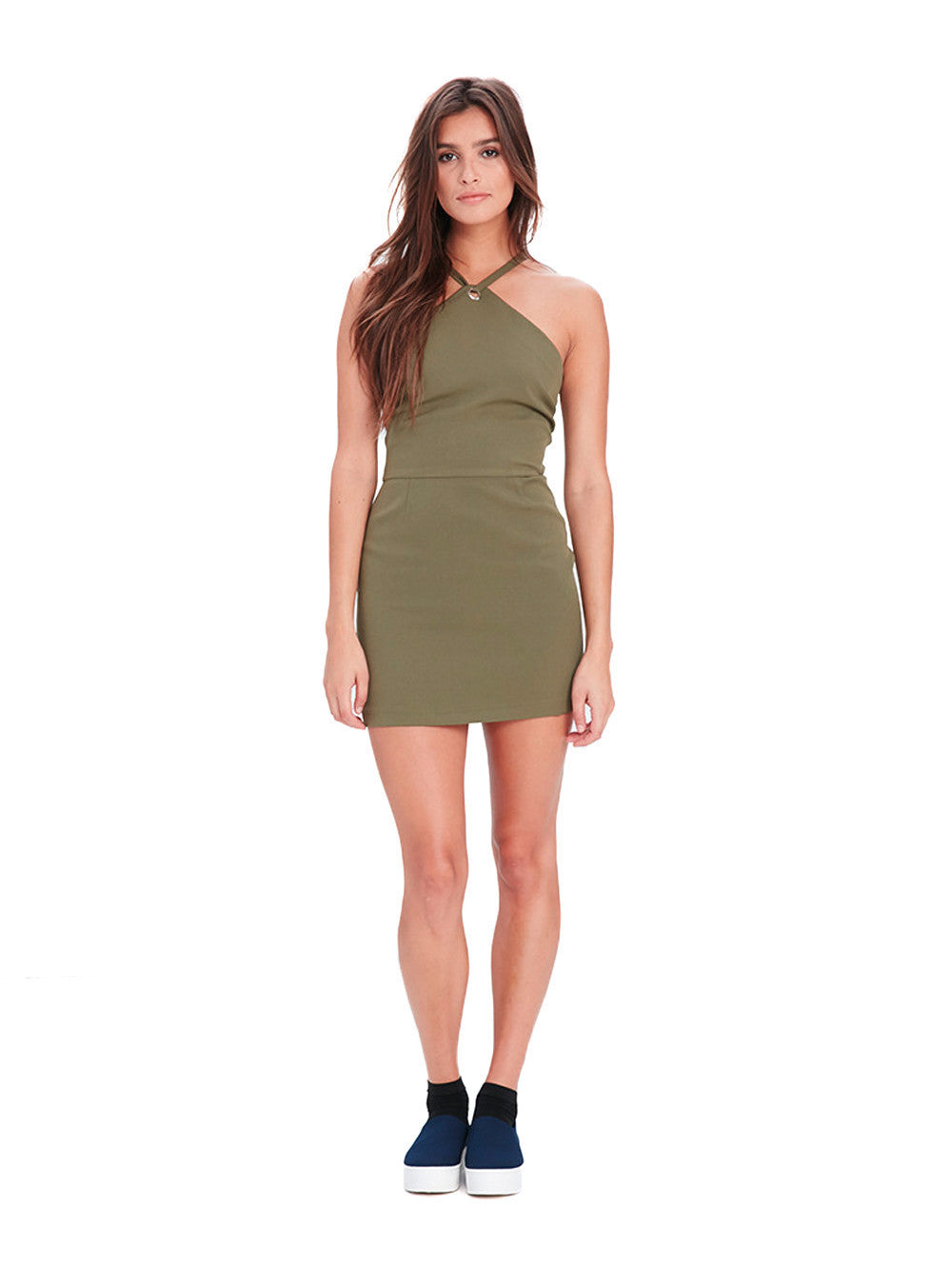 c124d7580e2 Reckless Girls Womens - Dresses   Rompers - Mini Shay Mini Dress - Olive ...