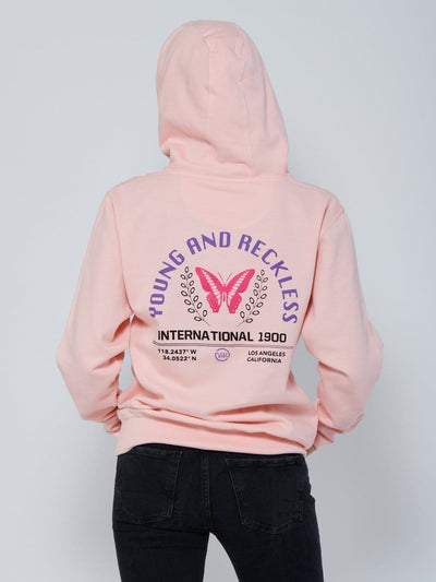 Young and Reckless Womens - Habitat Hoodie - Pink